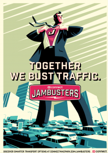 Helping jammed commuters help themselves campaign